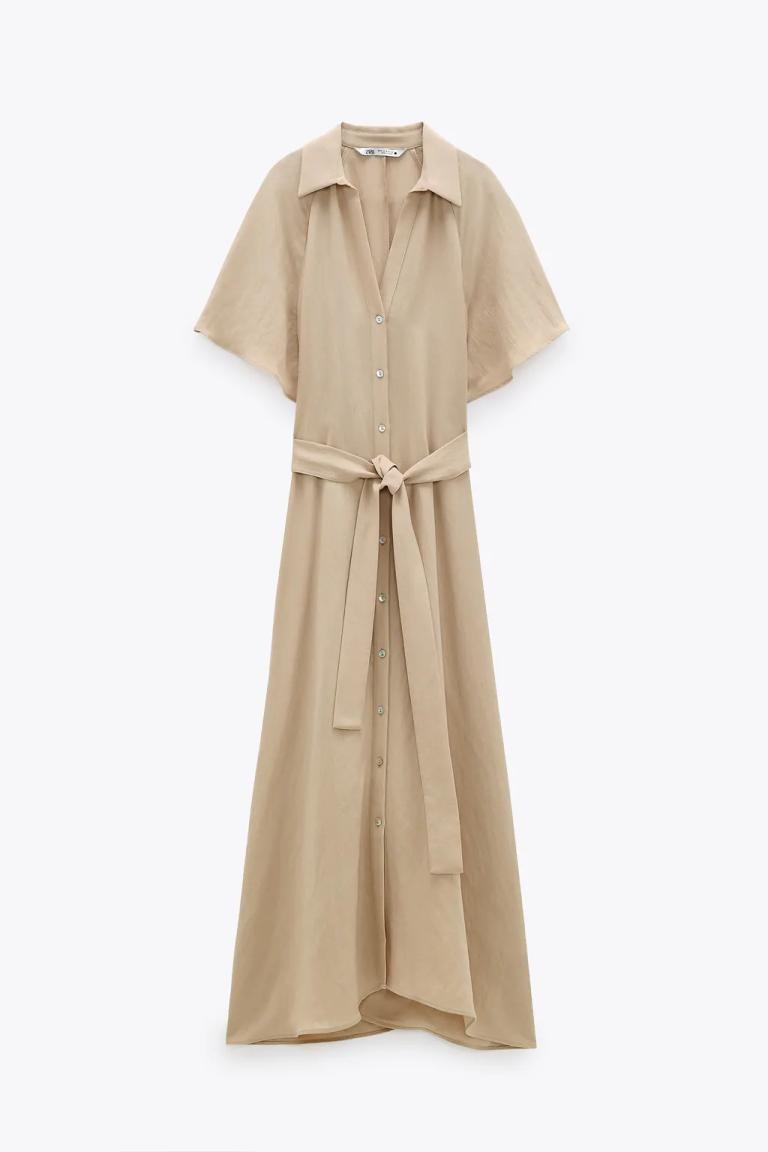 Zara Belted Shirt Dress v2