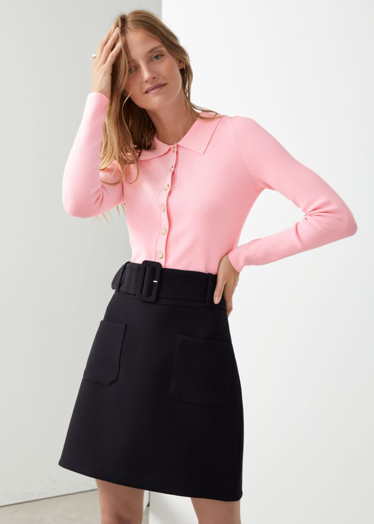 And Other Stories Belted mini skirt