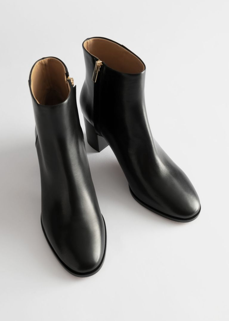 And Other Stories Chrome Free Tanned Leather Ankle Boots