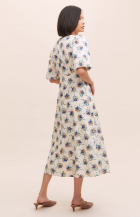 Anthropologie Annette Printed Midi Dress back view