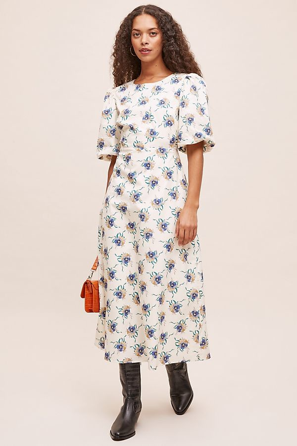 Anthropologie Annette Printed Midi Dress