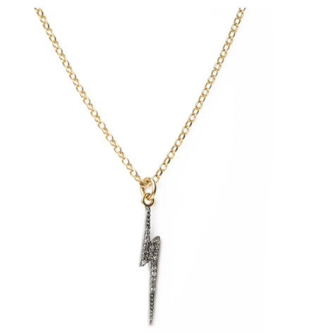 Kirstie Le Marque Diamond Lightning Bolt Necklace