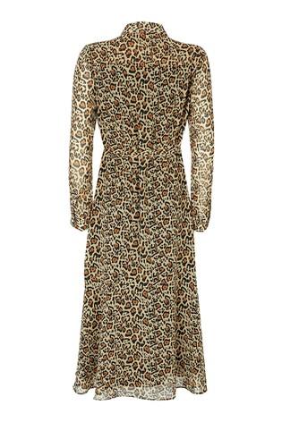 Mint Velvet Natural Isabel Midi Shirt Dress back view