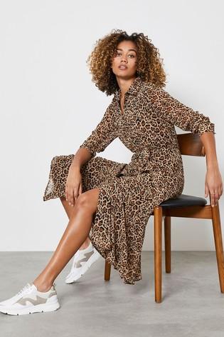 Mint Velvet Natural Isabel Midi Shirt Dress