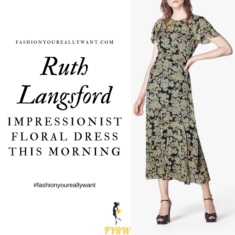 Where to get all Ruth Langsford This Morning outfits blog September 2020 sheer black floral georgette maxi dress