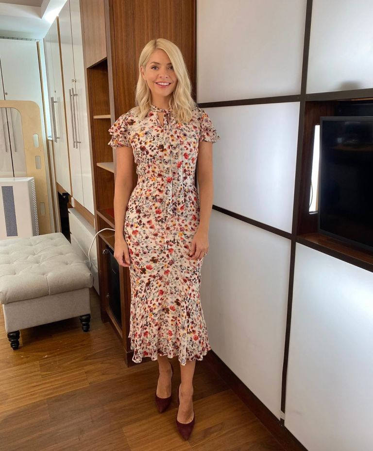 where to get all Holly Willoughby This Morning dresses pink floral wildflower dress 16 September 2020 Photo Holly Willoughby
