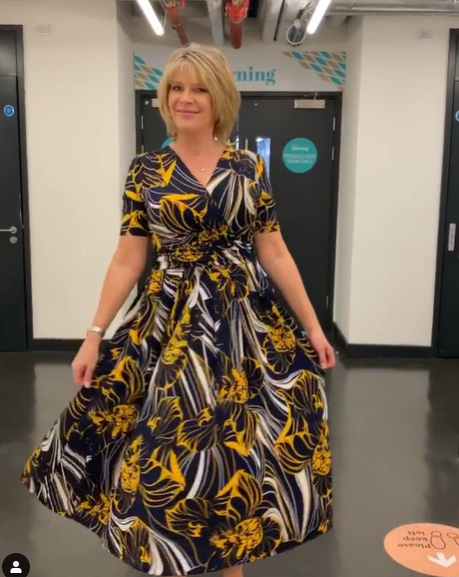 where to get all Ruth Langsford This Morning dresses navy large floral maxi dress 11 September 2020 Photo Ruth Langsford