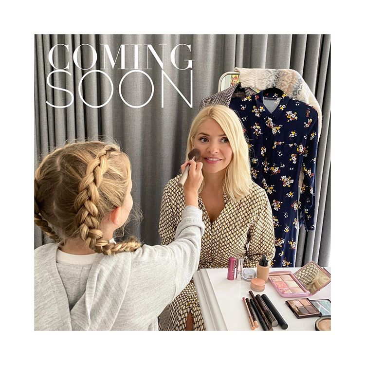 where to get Holly Willoughby M&S shoot make-up 29 August 2020 Photo Holly Willoughby