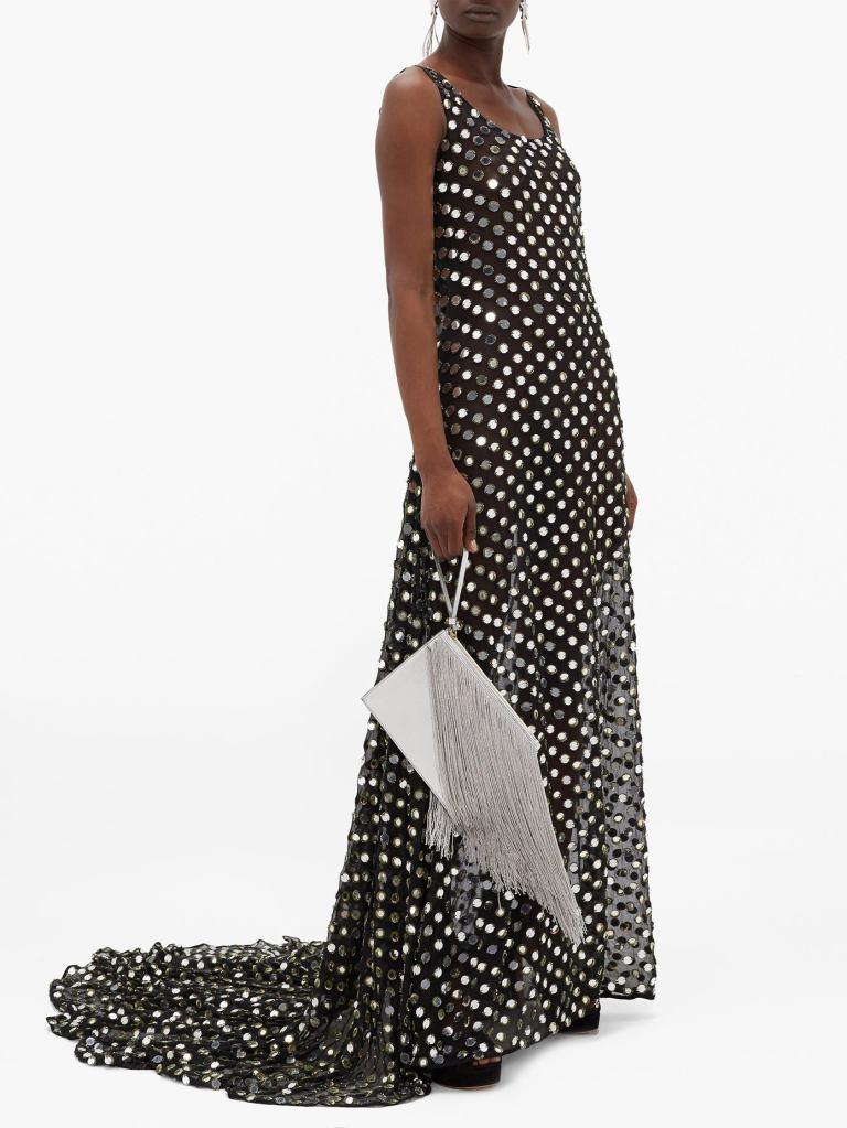Ashish Laxmi Morrorwork Georgette Gown
