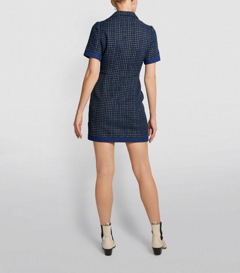 Claudie Pierlot Knitted Blazer Dress back view