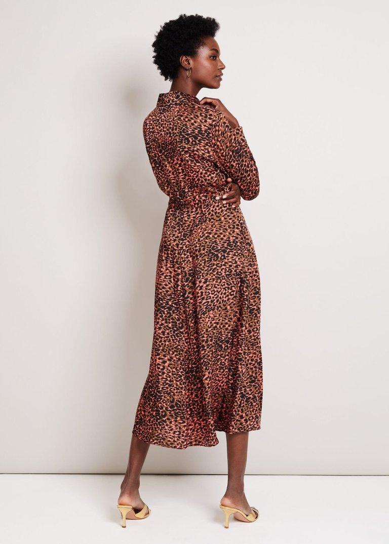 Damsel in a Dress Mayumi Leopard Dress back view