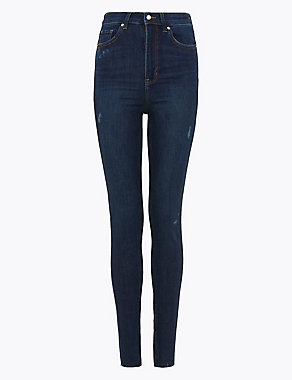 M&S Collection Ivy High Waisted Distressed Skinny Jeans