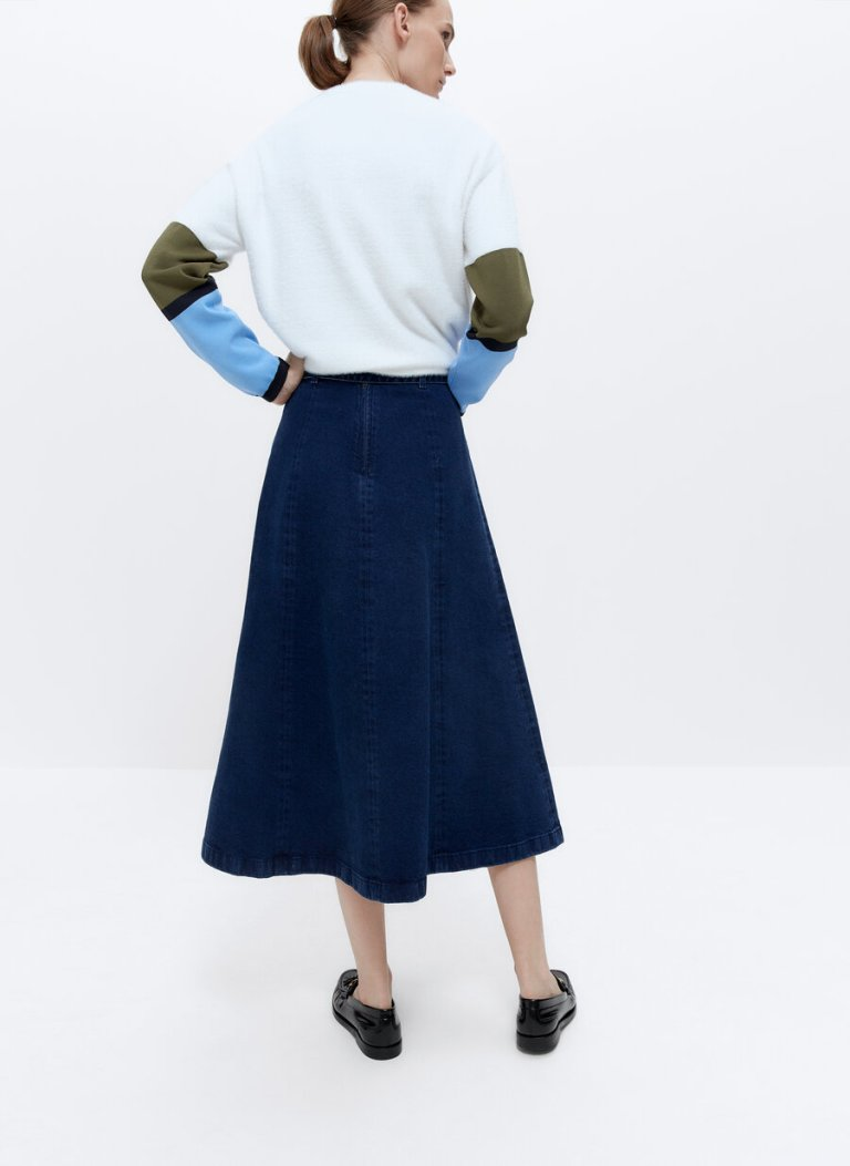 Uterque Skirt With Buttons back view