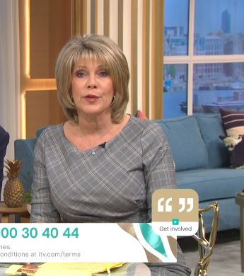 where to get all Ruth Langsford This Morning dresses grey check bodycon dress 2 October 2020 Photo ITV