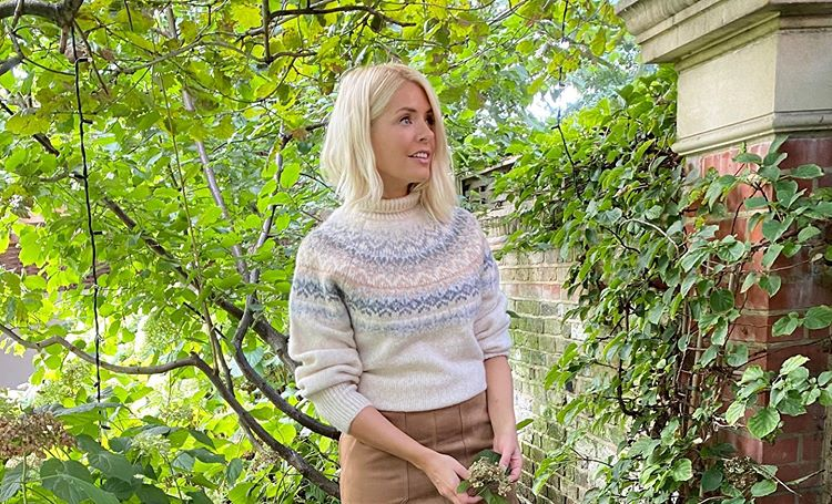 where to get holly willoughby beige oatmeal fairisle jumper 8 October 2020 Photo Harry
