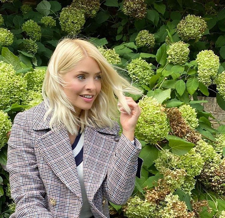 where to get Holly Willoughby check jacket black and white jumper 2 October 2020 Photo M&S v2