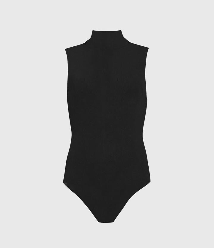 All Saints Raffi Sleeveless Rollneck Bodysuit
