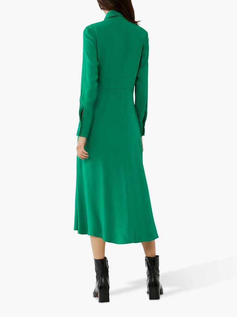Ghost Claudette Satin Crepe Dress back view