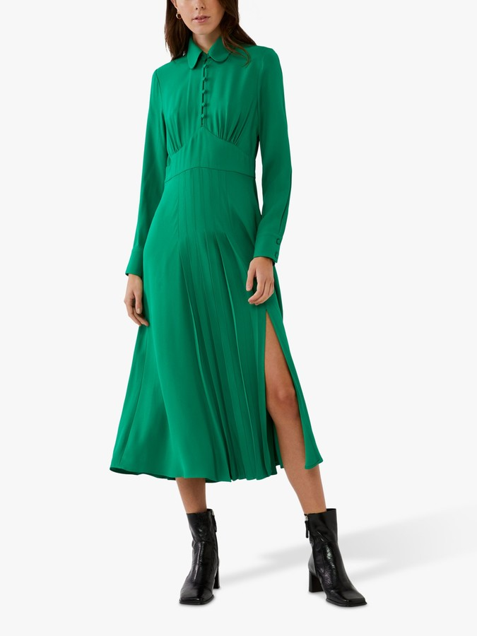 Ghost Claudette Satin Crepe Dress