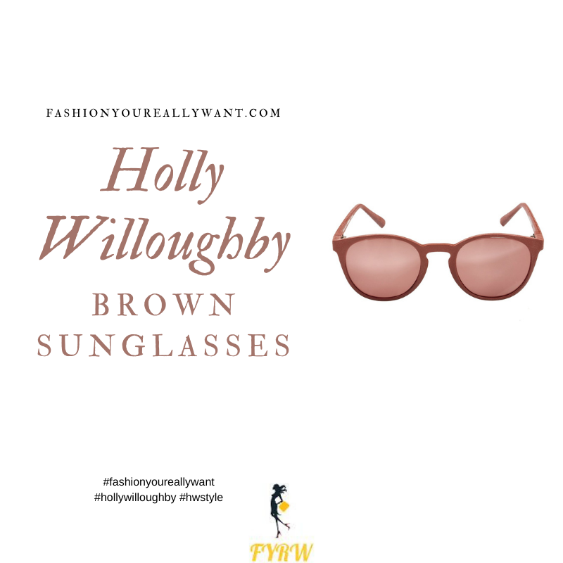 Where to get all Holly Willoughby outfits blog November 2020 brown sunglasses