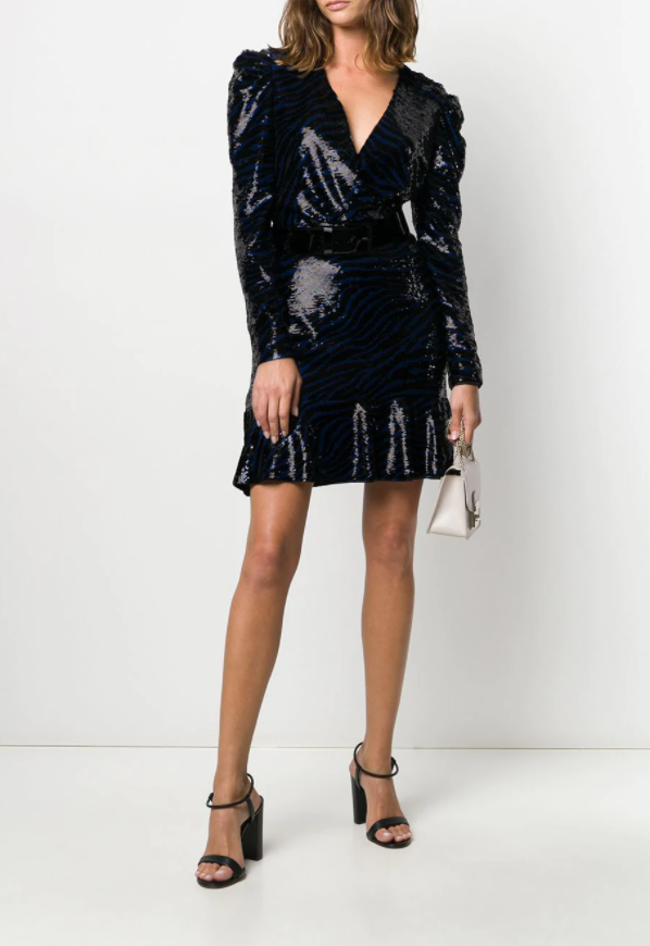 Michael Kors Zebra Sequin Mini Dress