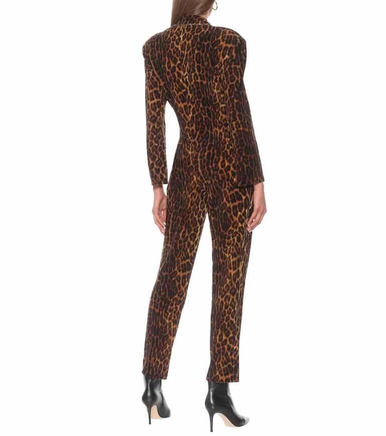 Norma Kamali Leopard-print jumpsuit back view