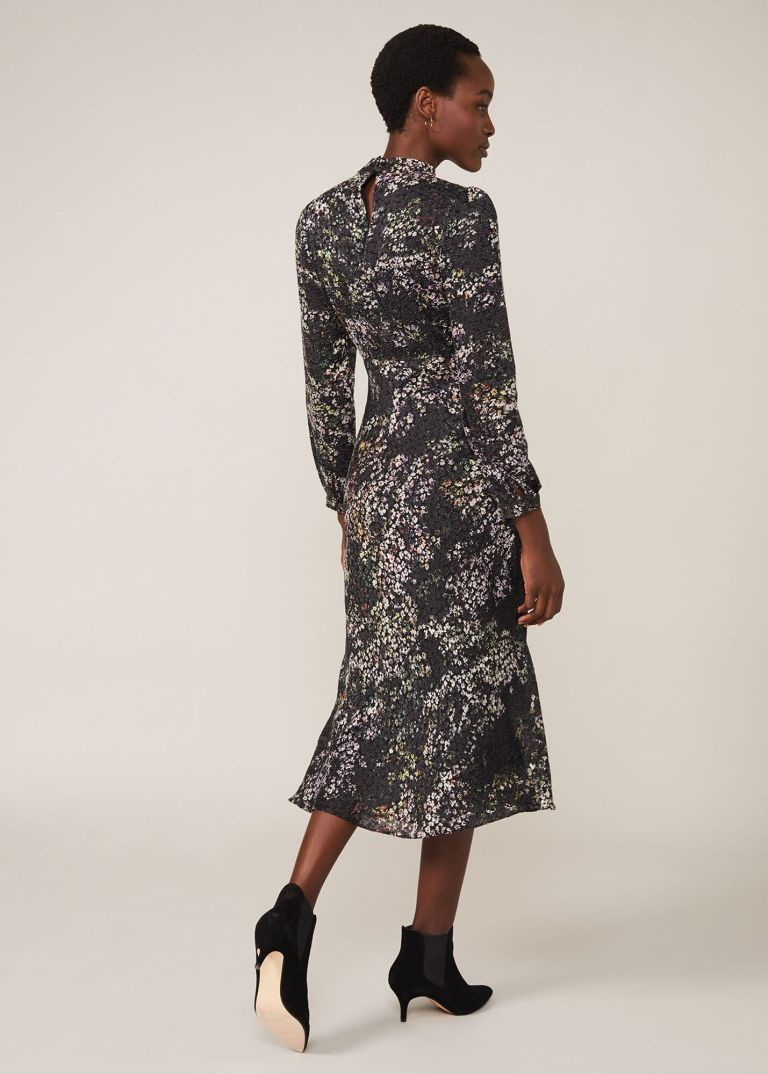 Phase Eight Elinore Printed Burnout Dress back view