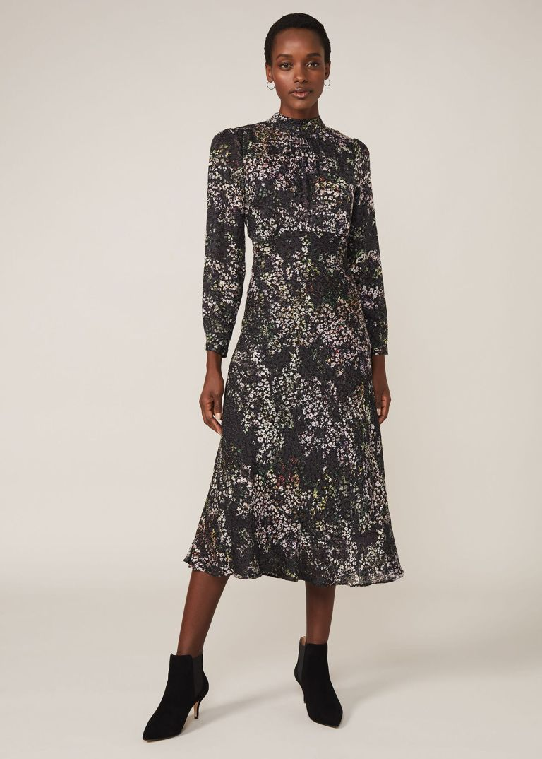 Phase Eight Elinore Printed Burnout Dress
