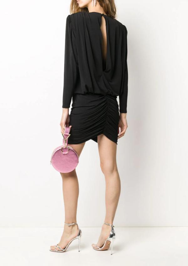 Retrofete Ruched Mini Dress back view