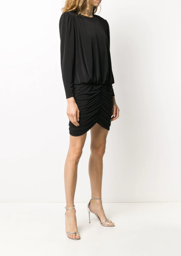 Retrofete Ruched Mini Dress