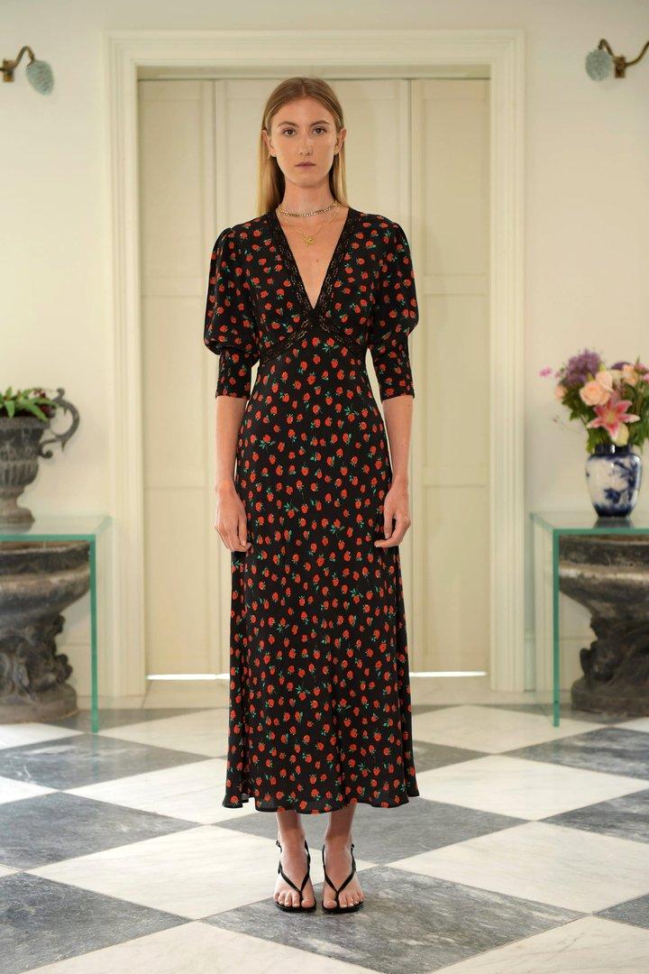 Rixo Gemma Rose Print Dress v2