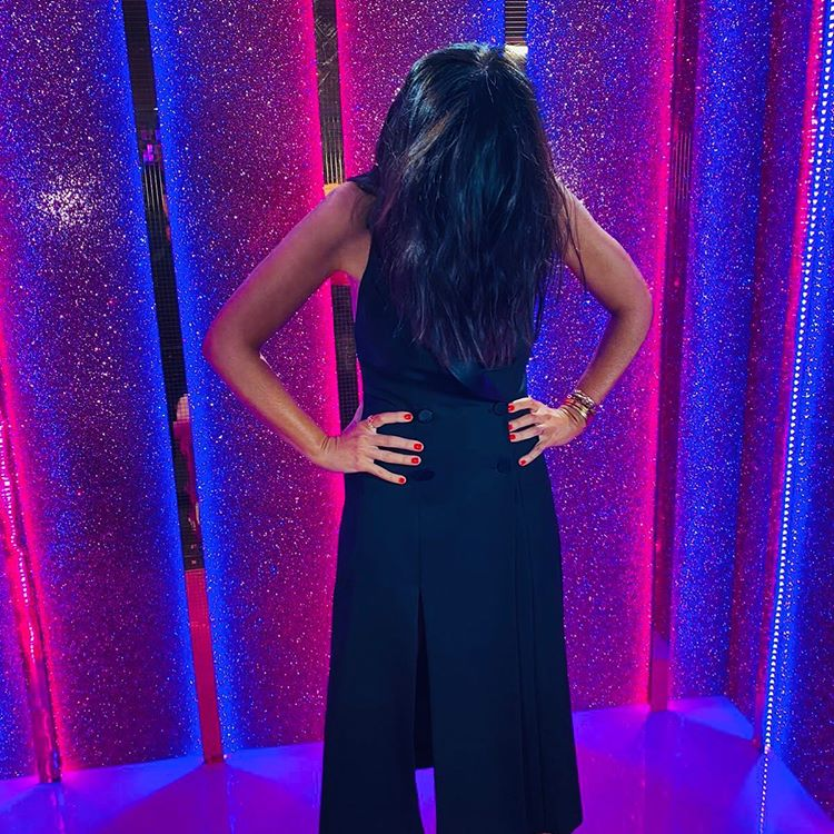 Where to get all Claudia Winkleman Strictly dresses black halter tux dress 14 November 2020 Photo Claudia Winkleman