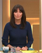where to get Davina McCall This Morning blue rib jumper 19 November 2020 Photo iTV