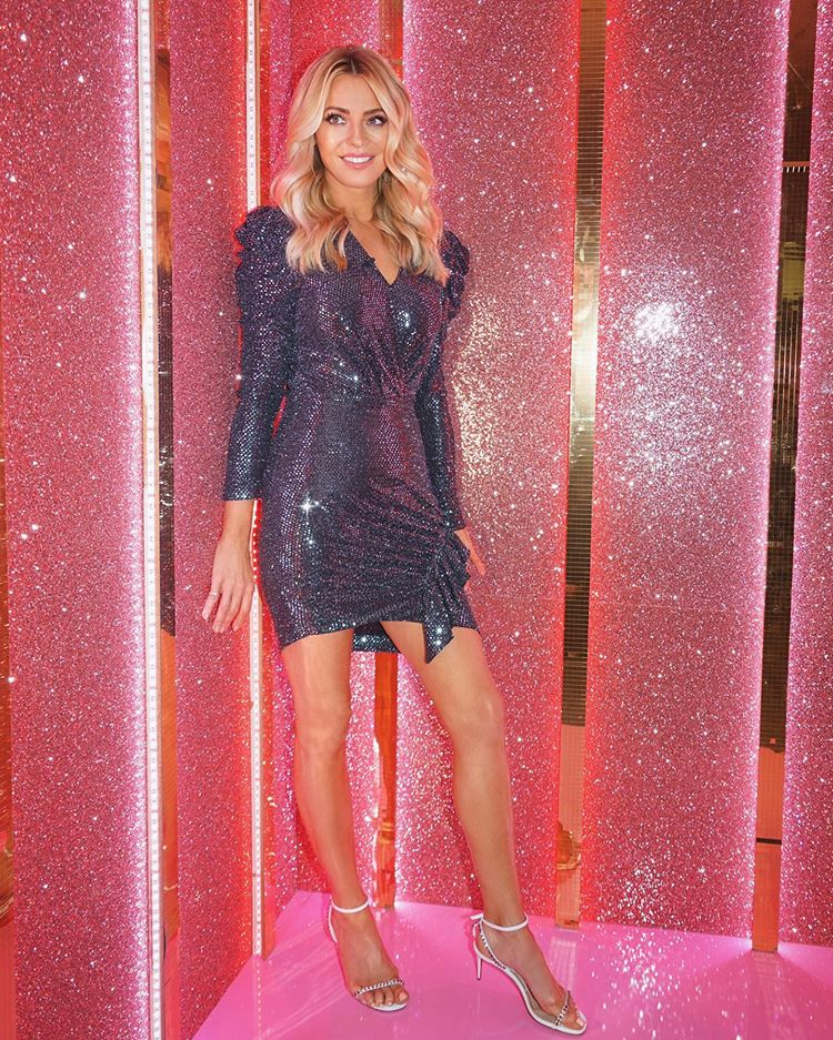 where to get tess Daly Strictly dresses black dequin mini dress 1 November 2020