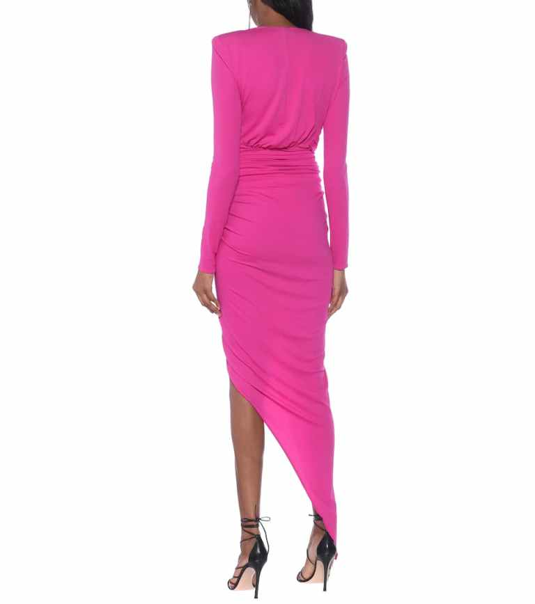 Alexandre Vauthier Asymmetric stretch-jersey gown back view