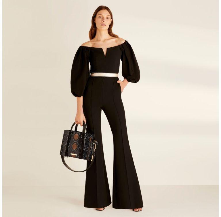 Amanda Wakeley Black Sculpted Tailoring & Cady Jumpsuit