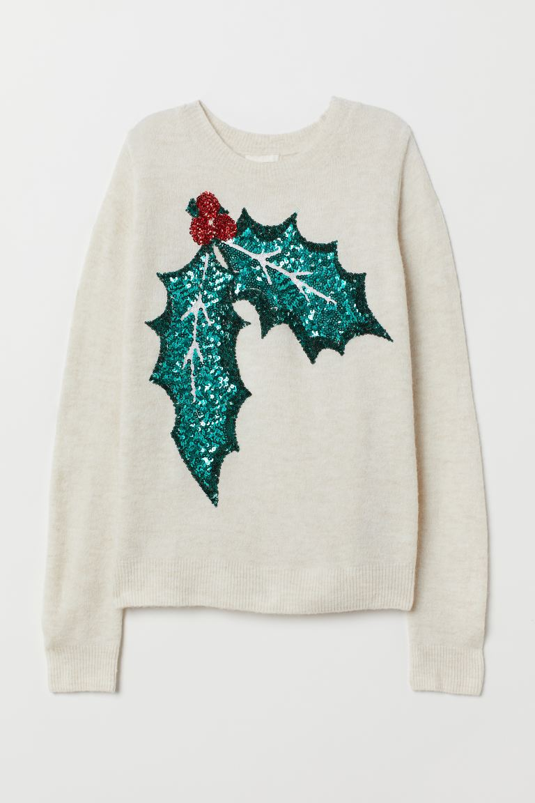 H&M Knitted jumper with a motif