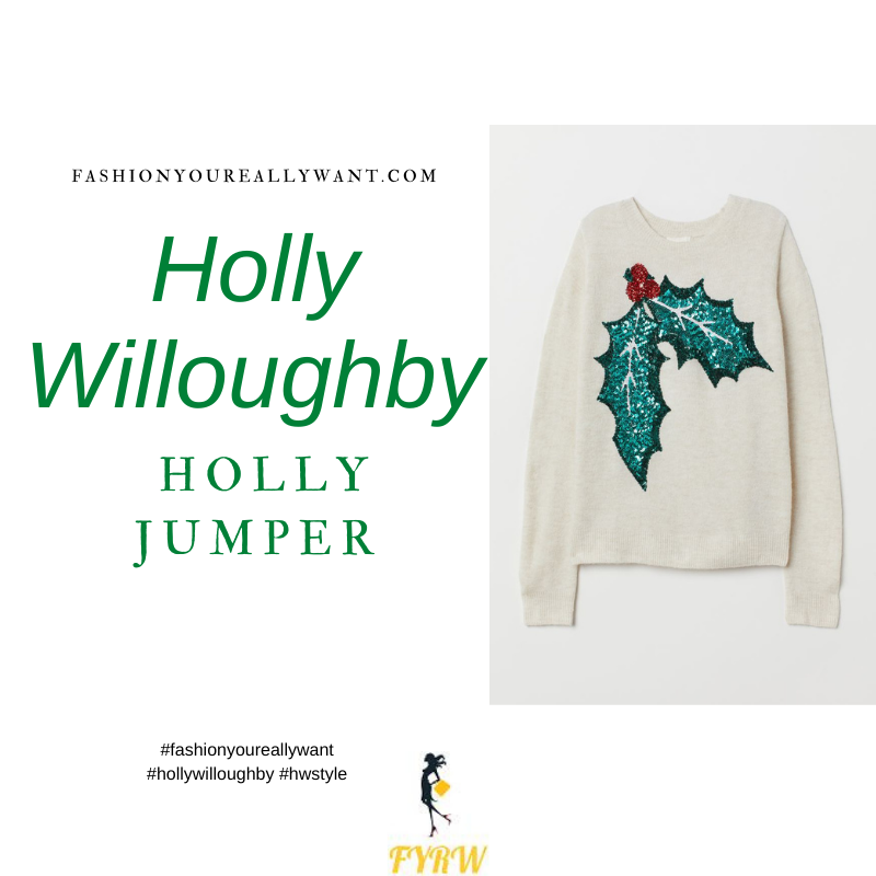 Where to get all Holly Willoughby This Morning outfits blog December 2020 cream sequin holly jumper