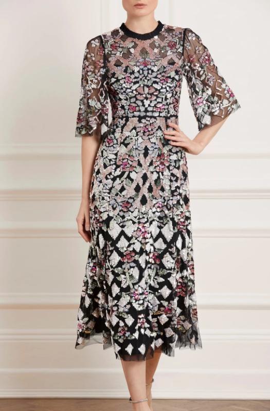 Needle & Thread Harlequin Rose Sequin Ballerina Dress
