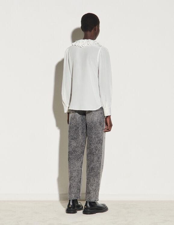 Sandro Paris FloatySshirt With Layered Collar back view