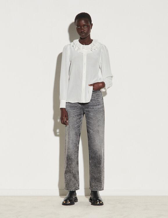 Sandro Paris FloatySshirt With Layered Collar