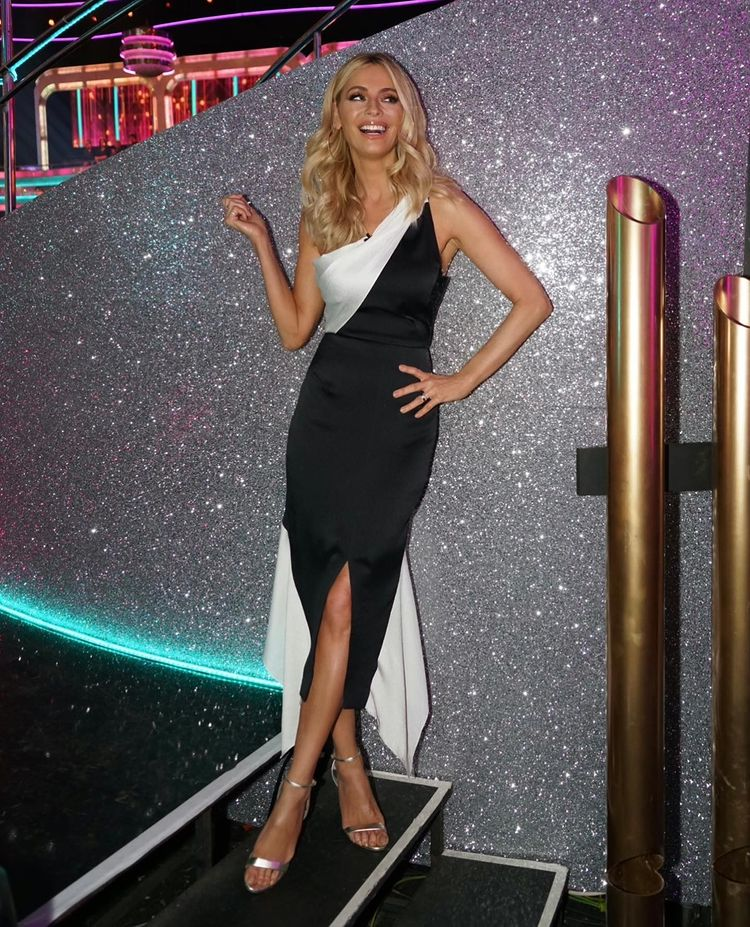 where to get all Tess Daly Strictly dresses black and white one shoulder dress 13 December 2020 Photo Tess Daly