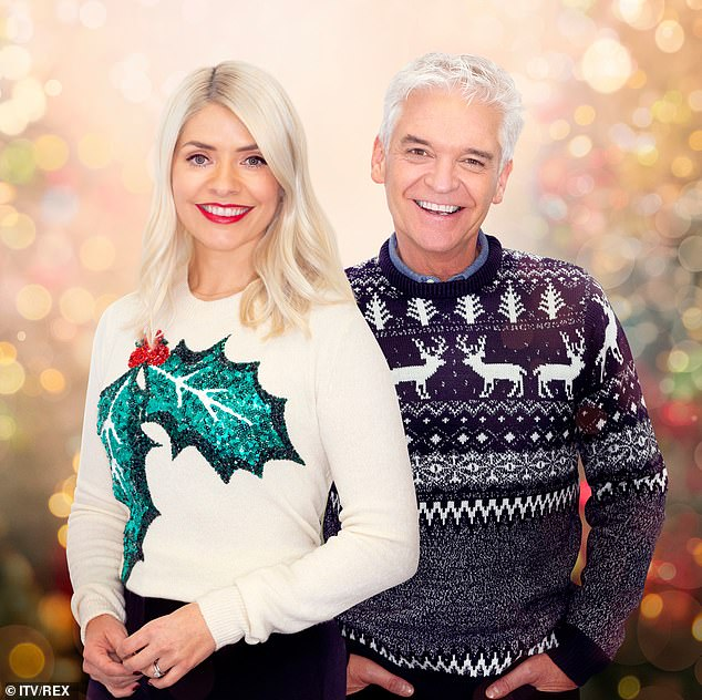 where to get Holly Willoughby white holly Christmas Jumper December 2020 Photo ITV REX