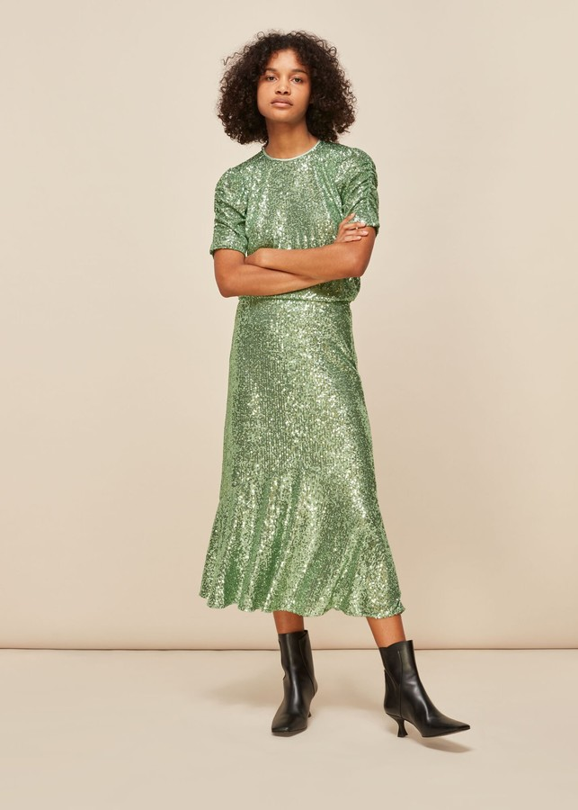 Whistles Sequin Seema top and skirt