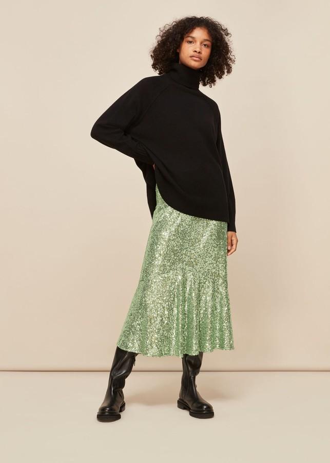 Whistles Suki Sequin Skirt