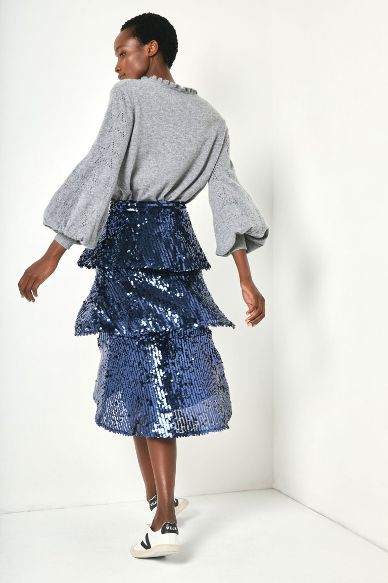 Wyse London Solange Sequin Skirt back view