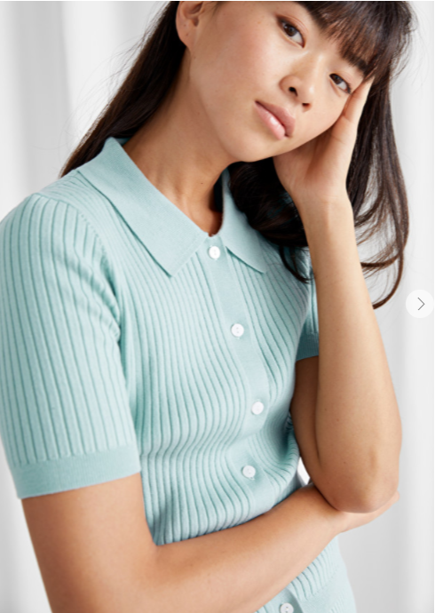 And Other Stories Button Up Knit Top