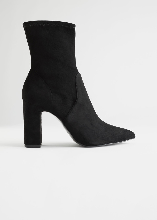 And Other Stories Heeled Suede Sock Boots
