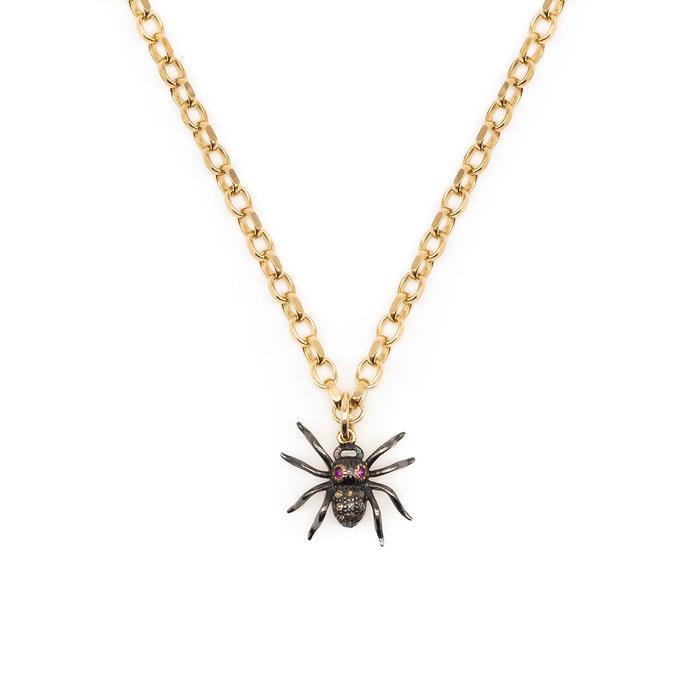 Kirstie Le Marque Diamond & Ruby Spider Necklace