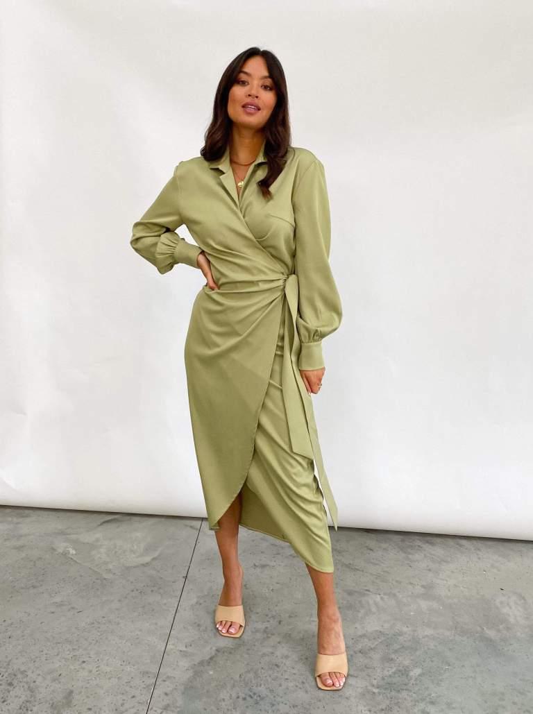 Pretty Lavish Ronnie Wrap Day Dress